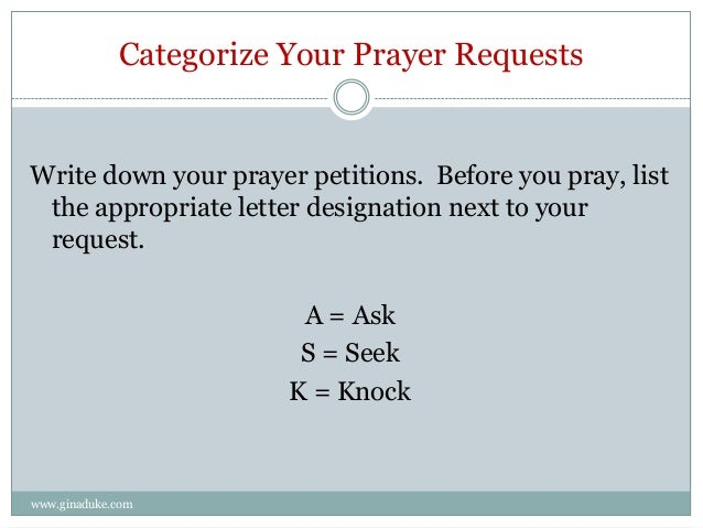 petition prayer