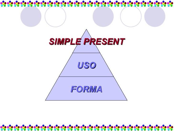 SIMPLE PRESENT USO FORMA