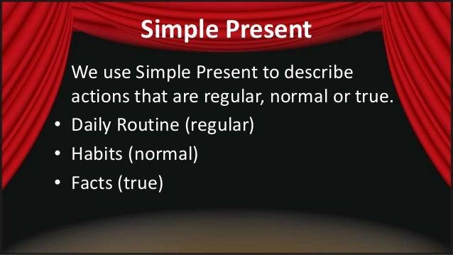 Simple present   structure Slide 2
