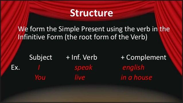 Simple present   structure Slide 3