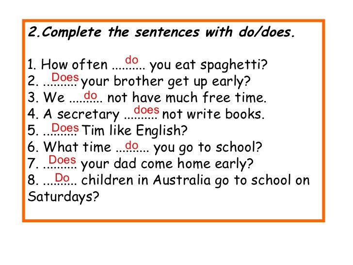 Sentences 1 - Types of Sentences