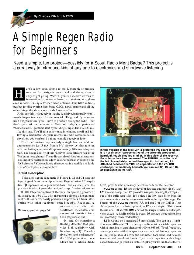 Simple regen receiver