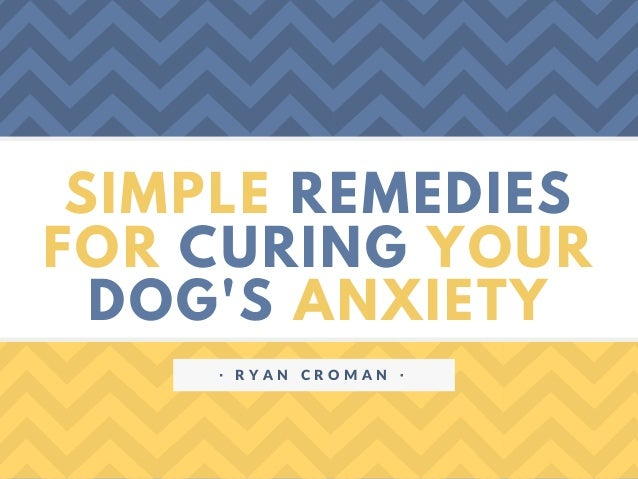 SIMPLE REMEDIES FOR CURING YOUR DOG'S ANXIETY ᐧ R Y A N C R O M A N ᐧ