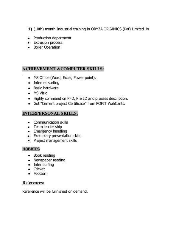 District commander resume