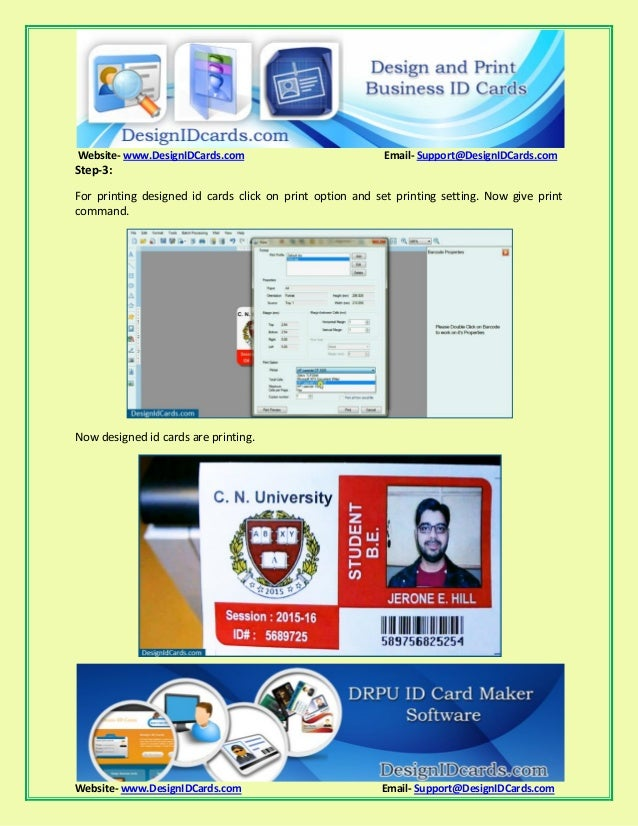 Simple steps to design and print business id cards