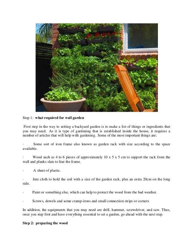 Simple steps to set up a vertical garden in sydney Slide 2
