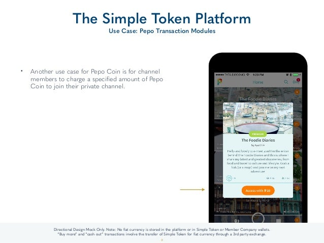 • Another use case for Pepo Coin is for channel members to charge a specified amount of Pepo Coin to join their private cha...