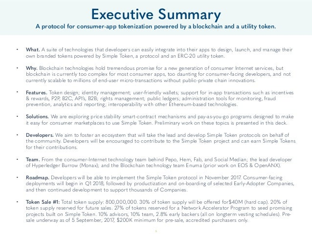 Executive Summary A protocol for