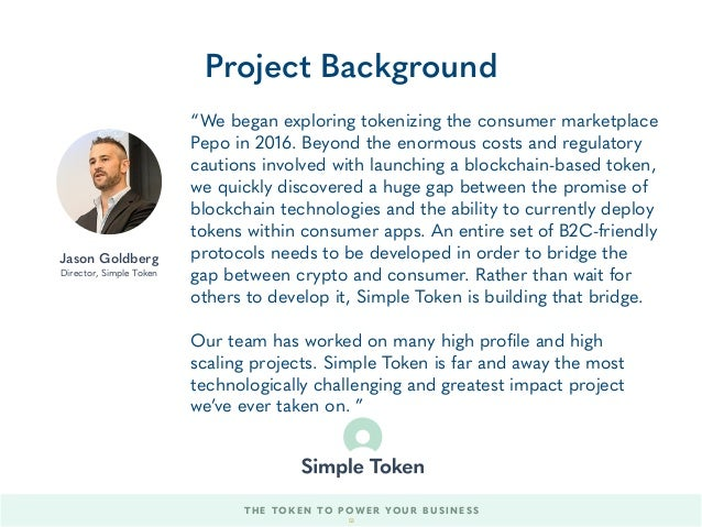"""""""We began exploring tokenizing the consumer marketplace Pepo in 2016. Beyond the enormous costs and regulatory cautions in..."""