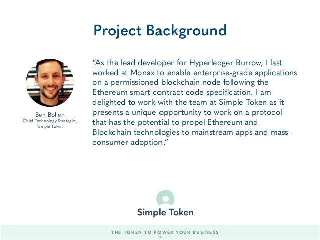 """""""As the lead developer for Hyperledger Burrow, I last worked at Monax to enable enterprise-grade applications on a permiss..."""
