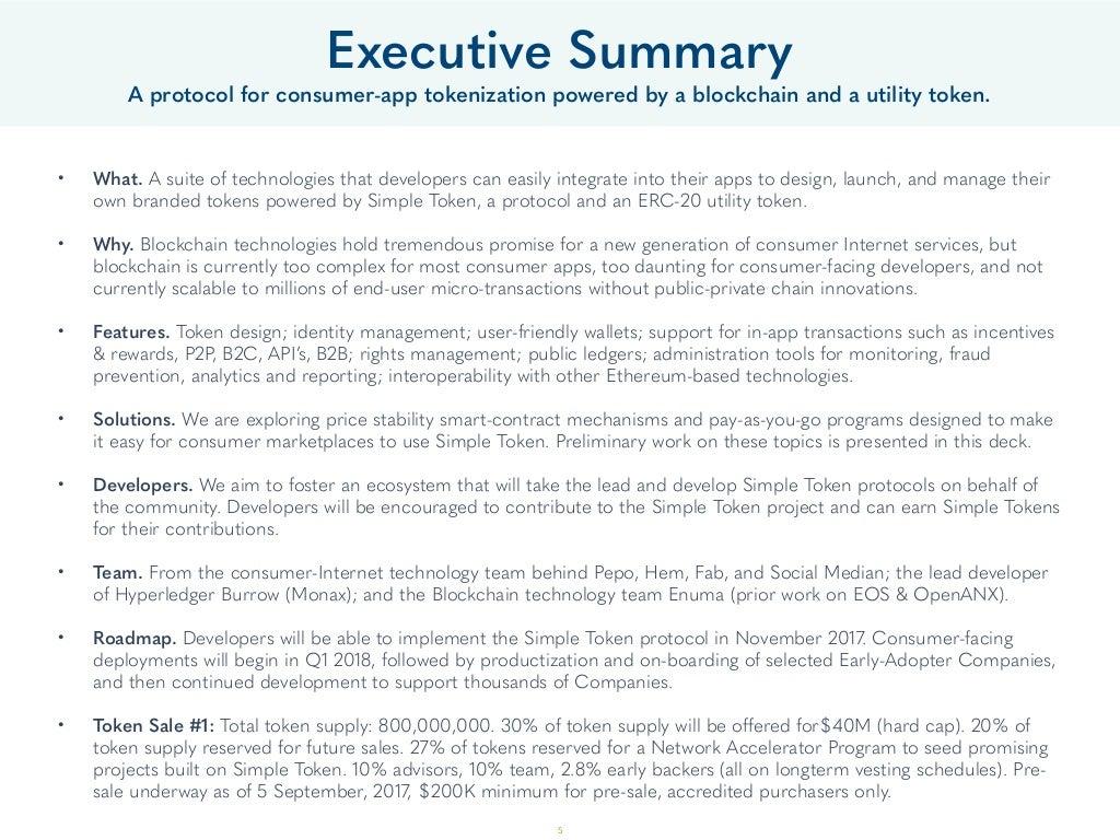simple executive summary template