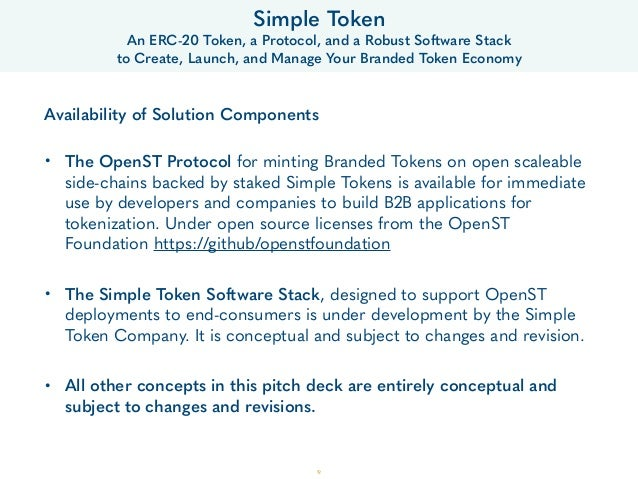19 Simple Token An ERC-20 Token, a Protocol, and a Robust Software Stack  to Create, Launch, and Manage Your Branded Toke...