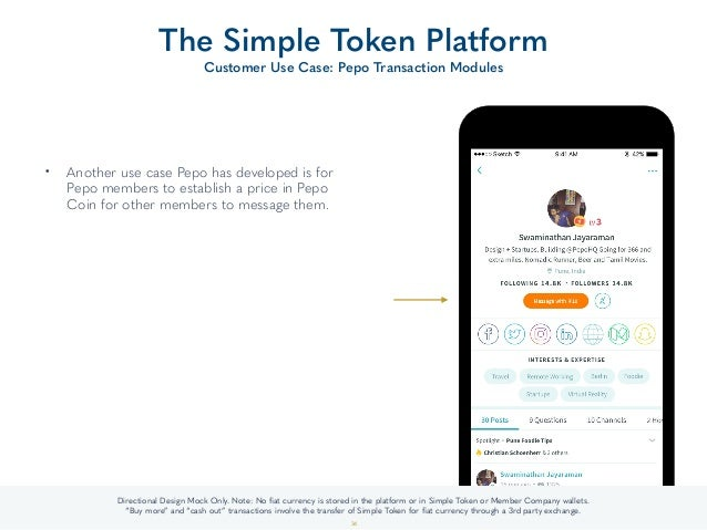 • Another use case Pepo has developed is for Pepo members to establish a price in Pepo Coin for other members to message t...