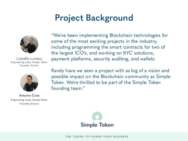 """We've been implementing Blockchain technologies for some of the most exciting projects in the industry, including program..."