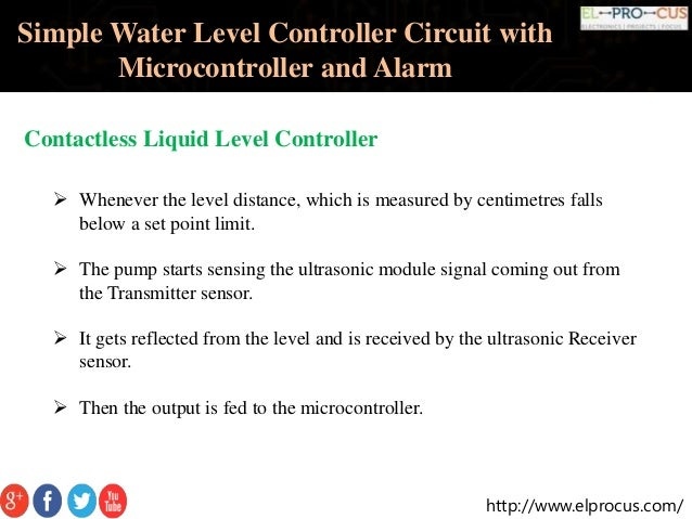 microprocessor based water level controller 8051 projects and 8051 microcontroller projects  microcontroller projects based on 8051 microcontroller  water level indicator with alarm.