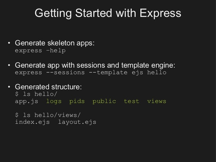 Building your first node app with connect express 13 getting started with express pronofoot35fo Images