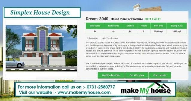 Simplex House Design G Dream 3040  House Plan For Plot Size  30 Ft ...