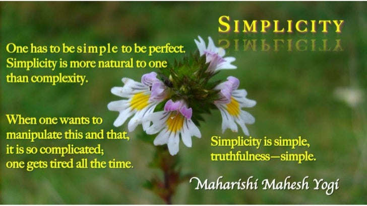 SIMPLICITY  (poster)