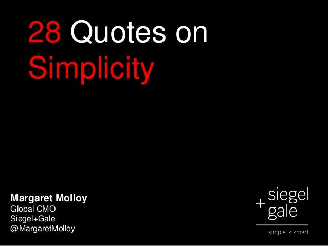Top 28 Quotes on Simplicity