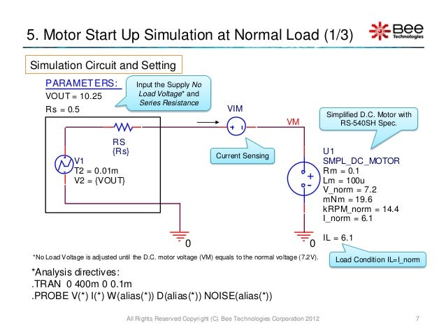 Simple Model of DC Motor using PSpice