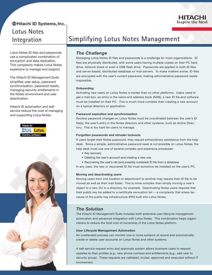 Lotus Notes Integration                          Simplifying Lotus Notes ManagementLotus Notes ID files and passwords     ...