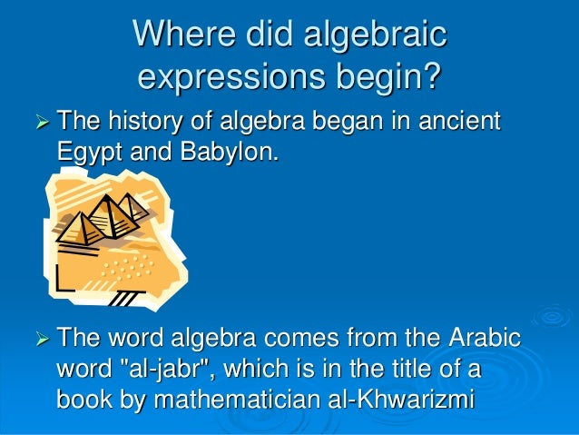 a look at the history of algebra