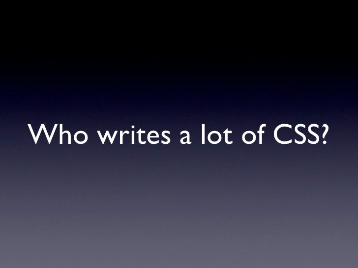 Simplifying CSS With Sass Slide 3