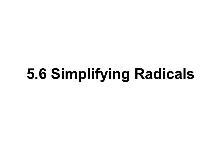 Simplifying Radical Expressions With Variables And Exponents – Radical Worksheet