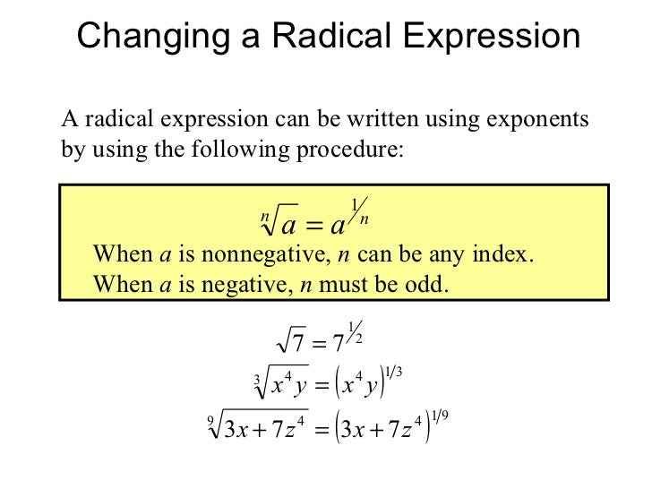 Q: How are imaginary exponents defined?