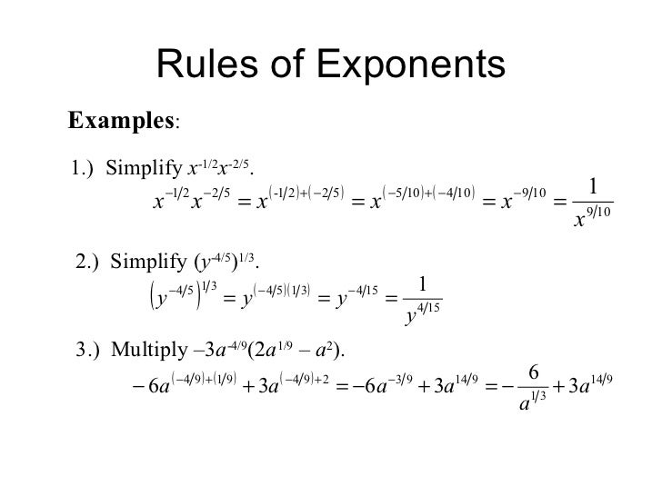 Simplifying radical expressions rational exponents radical equations – Simplify Exponents Worksheet