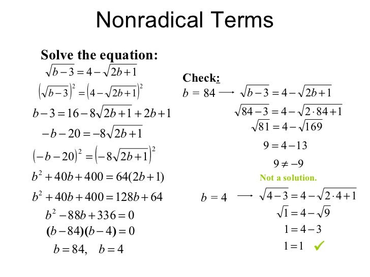Simplifying radical expressions rational exponents radical equations – Solving Radical Equations Worksheet with Answers