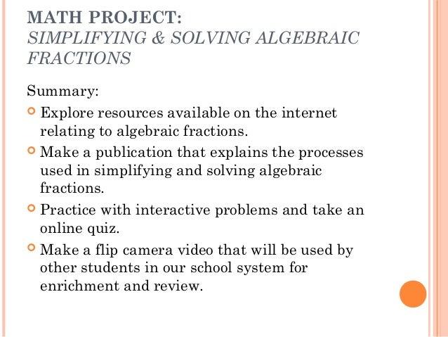 Simplifying Algebraic Fractions Worksheets math worksheets – Fraction Simplification Worksheet