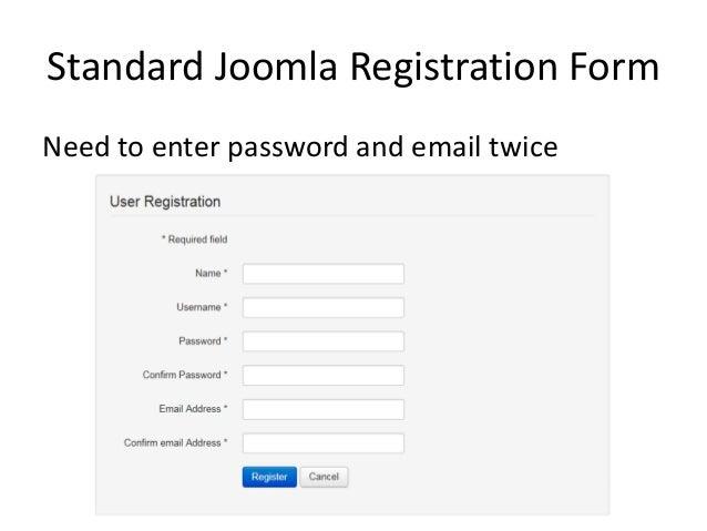 Simplify Your Joomla User Registration Form