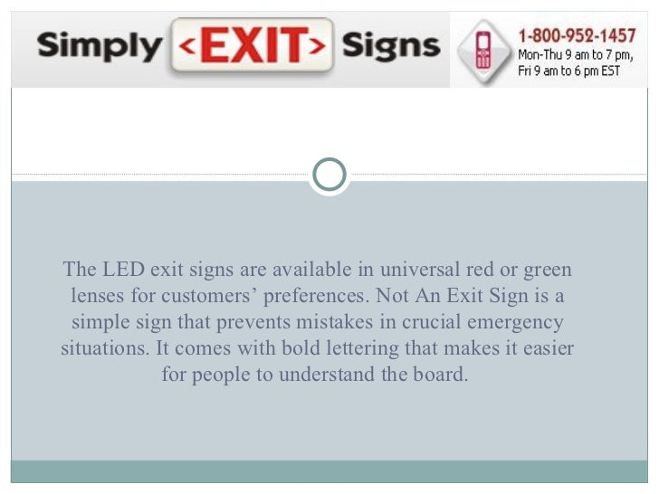 Buy high quality exit signs at - Electricity bill highcommon mistakes might making ...
