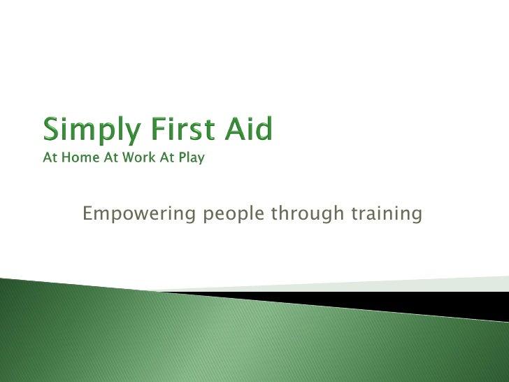 Empowering people through training