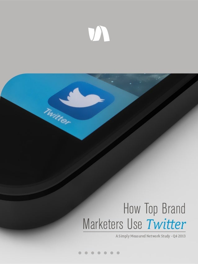 How Top Brand Marketers Use Twitter A Simply Measured Network Study - Q4 2013