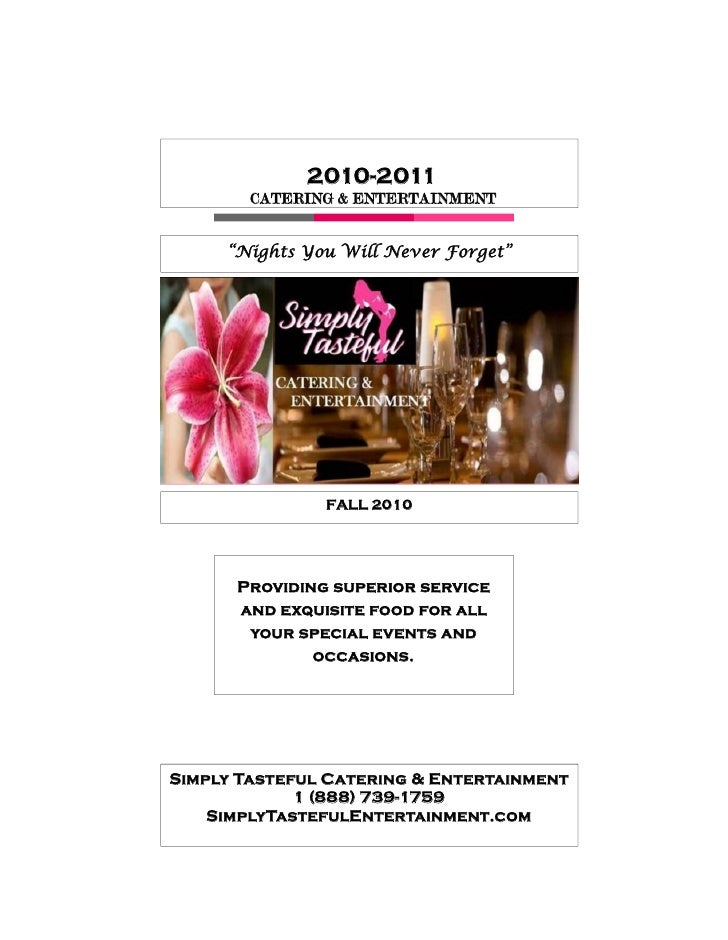 Simply Tasteful Catering Specialty Menu-Holistic Menu CA only