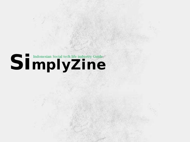 Indonesian Social tech life industry GuideSimplyZine