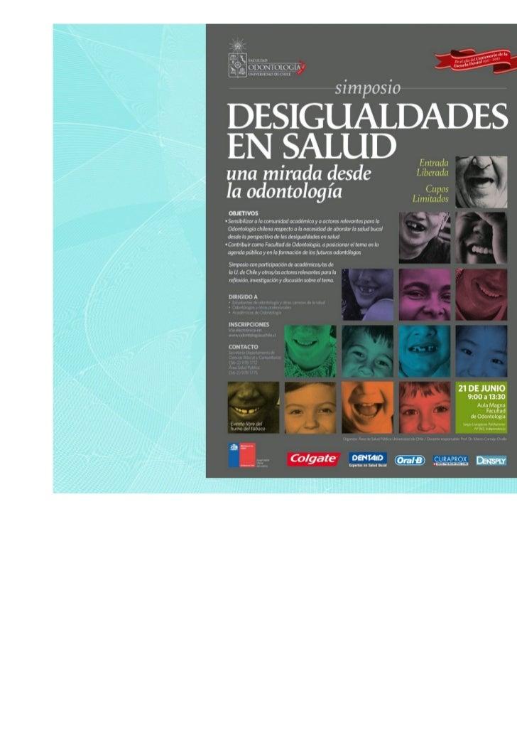 Estrategias de acción paraabordar las desigualdades de    salud bucal en Chile:La Reforma y su componente       de Salud B...