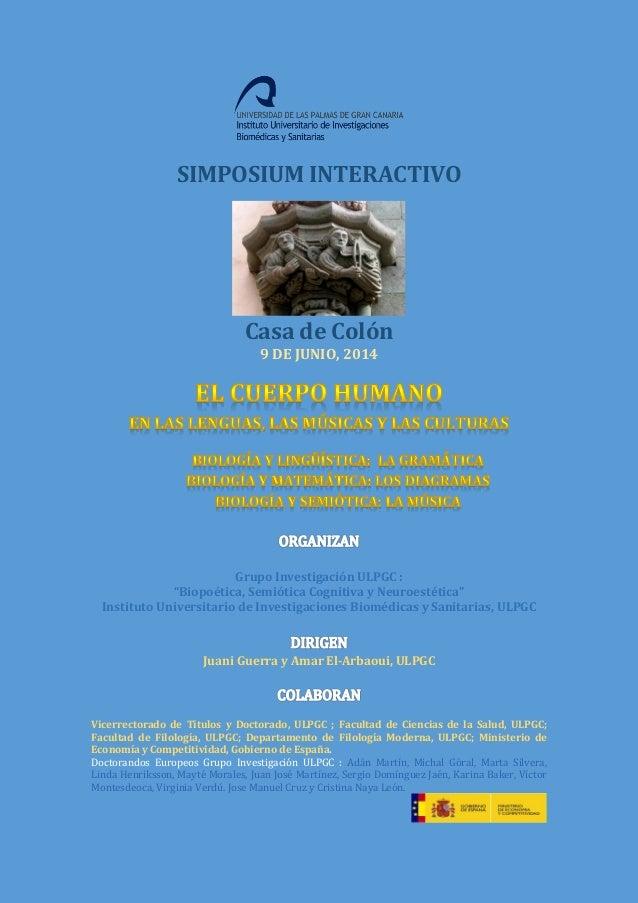 Simposium interactivo el cuerpo humano en las lenguas, las músicas y…