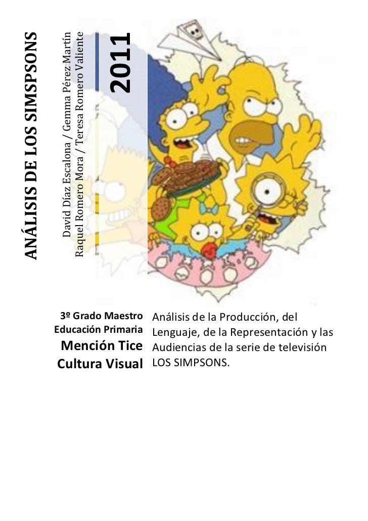 ANÁLISIS DE LOS SIMSPSONS                                                                           2011                  ...