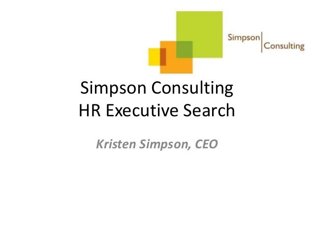 Simpson Consulting HR Executive Search Kristen Simpson, CEO