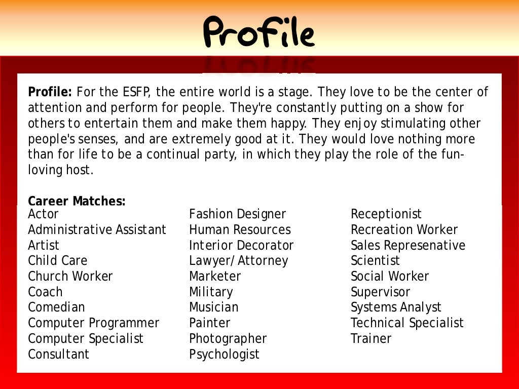profile profile for the esfp