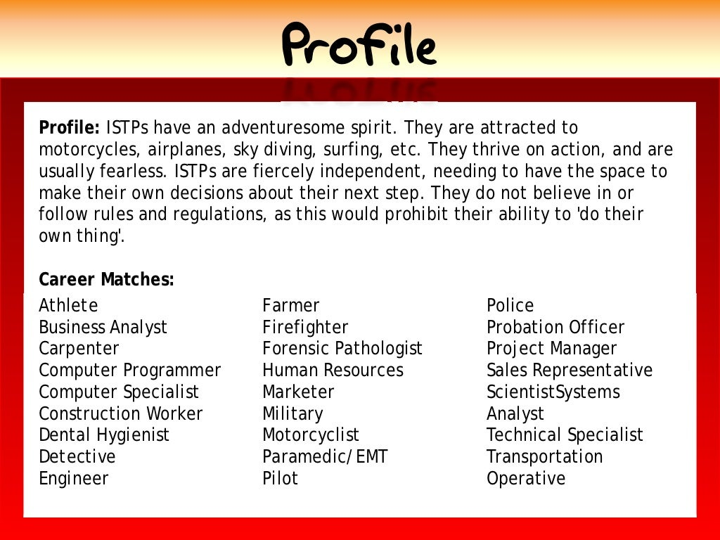 Profile profile istps have an fandeluxe Gallery