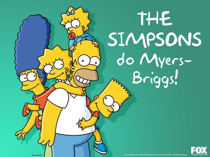 graphic about Myers Briggs Test for Students Printable titled The Simpsons Myers-Briggs Attempt