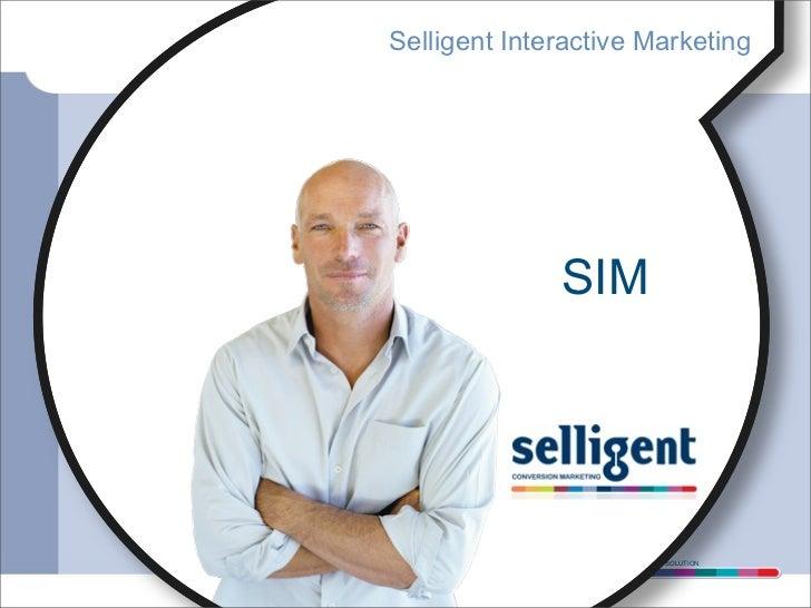Selligent Interactive Marketing              SIM               CONVERSION MARKETING SOLUTION