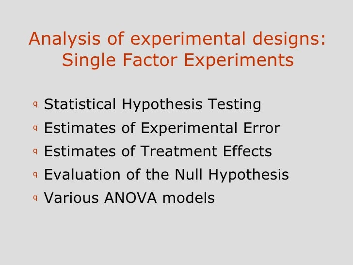 control design of a single degree Threats to internal & external validity the controlled or experimental design enables the investigator to control for threats to internal and external validity.