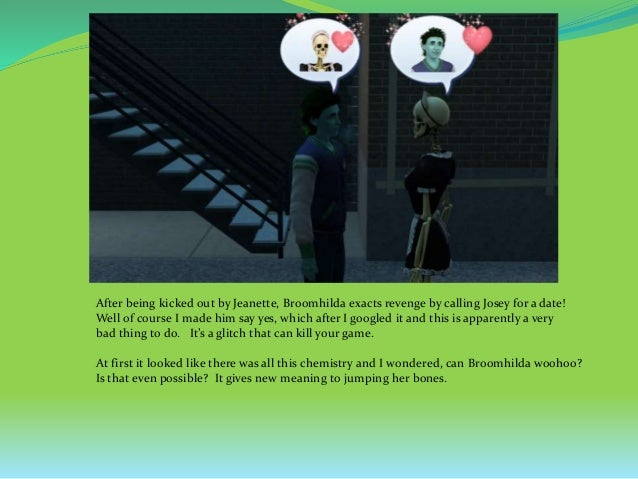 Sims 3 dating glitch