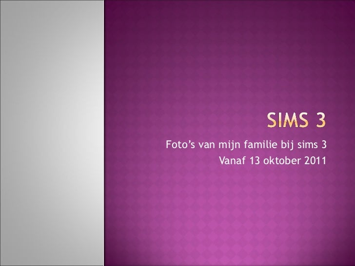 Sims 3 familie