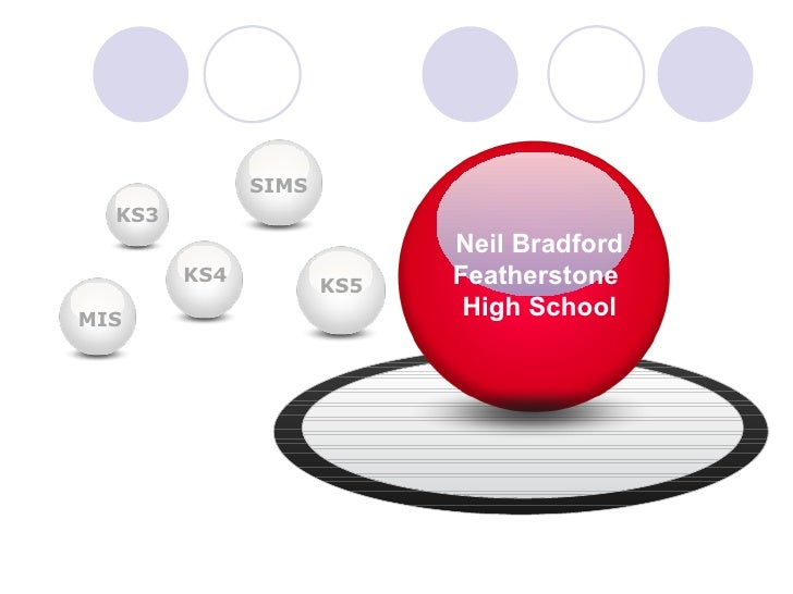 KS4 KS3 SIMS KS5 Neil Bradford Featherstone  High School MIS